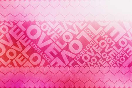 Love Valentine typographic texture photo