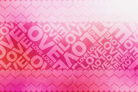 Love Valentine typographic texture Stock Photo