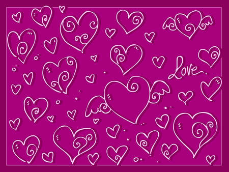 Cute love Valentine day s hearts Vector