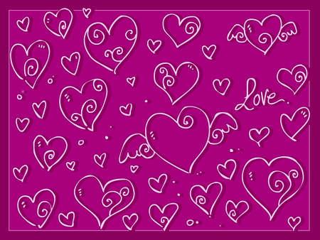 Cute love Valentine day s hearts