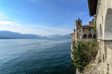 hermitage: Monastery of St. Catherine by Lake Maggiore Italy