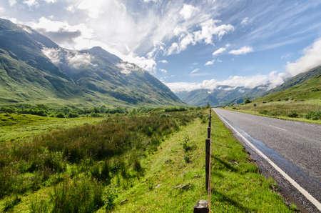 highlands: Scottish mountain highlands landscape