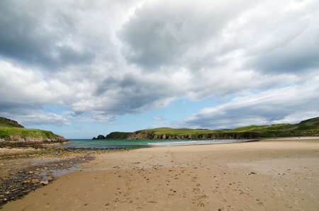 Beautiful beach landscape in scotland Stock Photo
