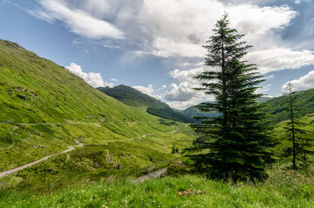 highland: Scottish mountain highlands landscape