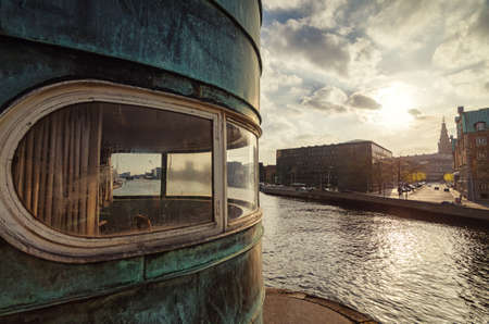 Conrol tower on Torvegade, Copenhagen Stock Photo
