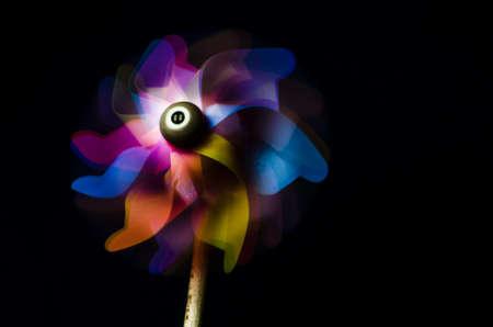 Colorful pinwheel toy