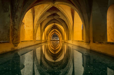 View of the beautiful pool with reflection