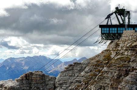 Skilift in Trentino Alto Adige, Italy