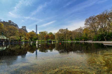 Sail model lake in Central Park