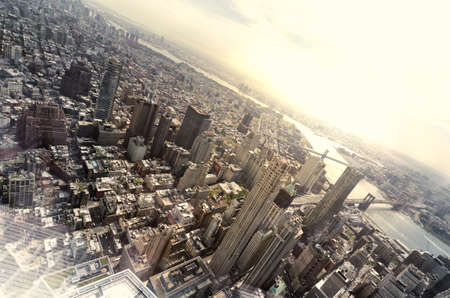 Very high view of New York