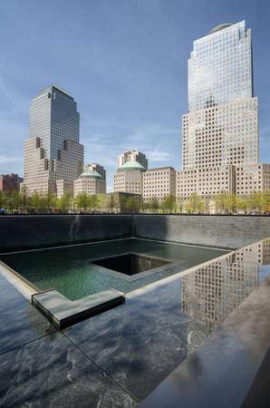 Memorial Plaza, fountain view, New York Editorial