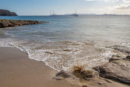 Beautiful beach at Playa Papagayo national resort, Lanzarote, Canary Islands