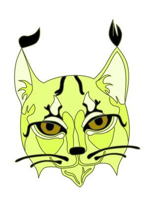 Muzzle lynx. Ilustração