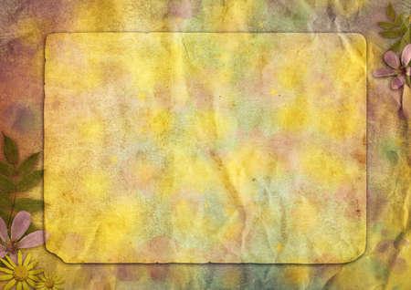interessant abstract vintage papier achtergrond met de bloemen voor het ontwerp Stockfoto