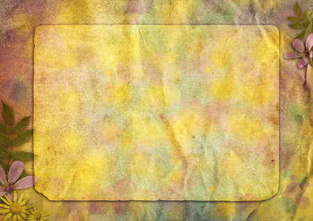 interesting abstract vintage paper background with the flowers for the design Stock Photo