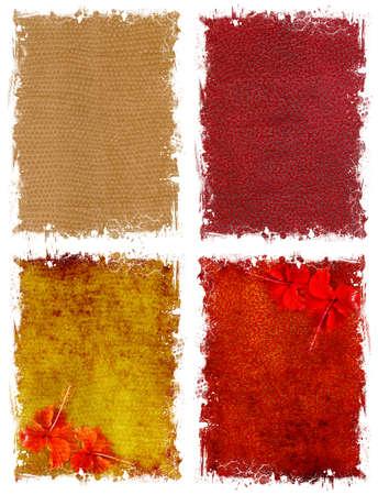 bordi: Una raccolta di carta vintage con bordi frastagliati strappata. Su uno sfondo bianco Archivio Fotografico