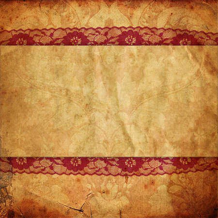 Vintage background in Victorian style with lace photo