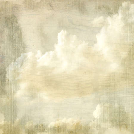 Delicate vintage background - clouds.  Banque d'images