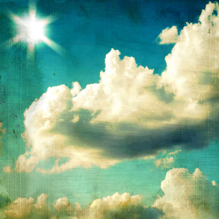 vintage textured background - sky and cloud.  photo