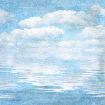 vintage textured background blue sky and cloud. Page to design photo books photo