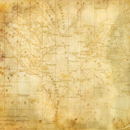 Background with the old map of the Americas  Page to design photo books