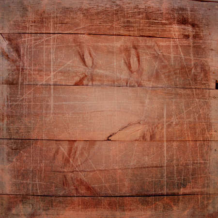 decrepit: Wooden planks with scratches and texture Stock Photo
