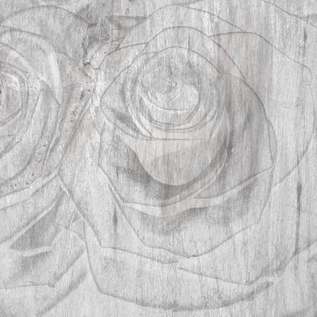 Abstract grunge textured background with roses for the cover design or photo album pages photo
