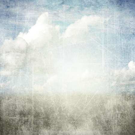 An abstract grunge texture background with clouds. Page to design photo books photo