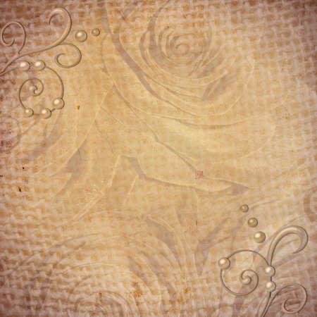 Abstract grunge gestructureerde achtergrond met rozen voor de cover ontwerp of foto-album pagina's Stockfoto