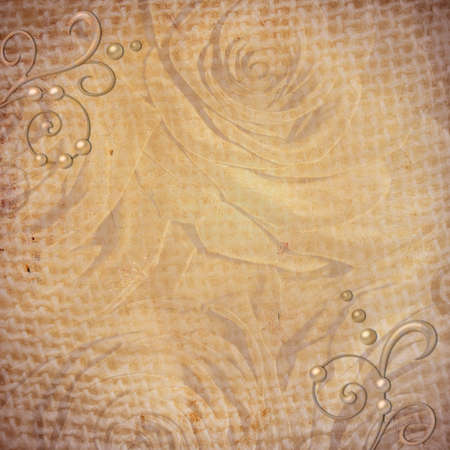 Abstract grunge textured background with roses for the cover design or photo album pages