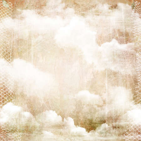 photoalbum: An abstract vintage texture background with clouds. Page to design photo books, album.