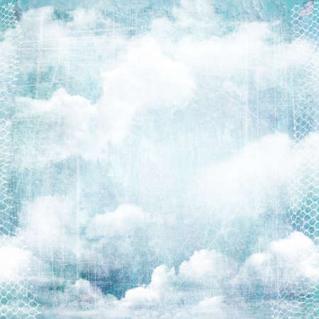 An abstract vintage texture background with clouds. Page to design photo books, album. photo