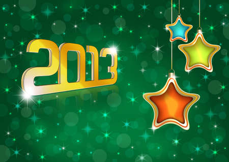 New Year 2013 Greeting Card. Template photo