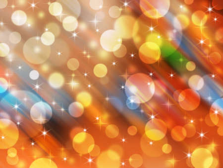 Blurred abstract background - celebration circle light and star  Stock Photo - 16729285
