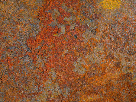 Abstract texture oxidized, rusted metal. Vintage background