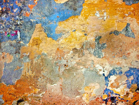 Old colored plaster wall texture. Abstract background Banque d'images