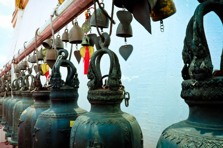 The bells in the temple at Thailand