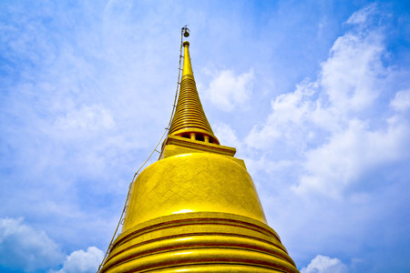 gould pagoda and biue sky in the Thailand