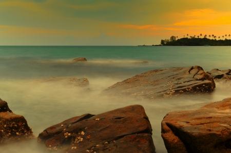 Beautiful sunset at Koh Tao Island photo