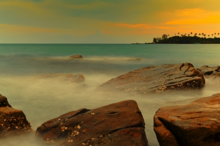 koh tao: Beautiful sunset at Koh Tao Island