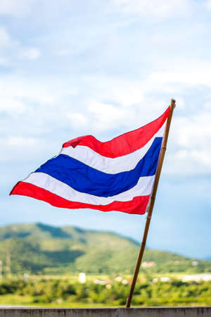 ethnical: thailand flag with three color