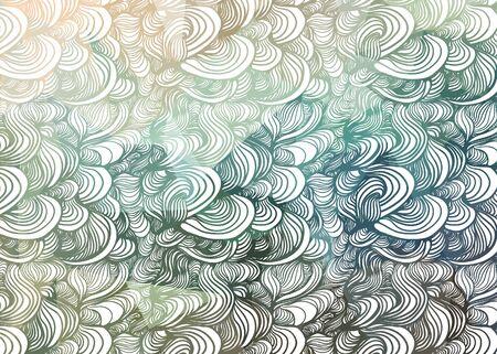 clots: abstract hand-drawn waves texture Illustration