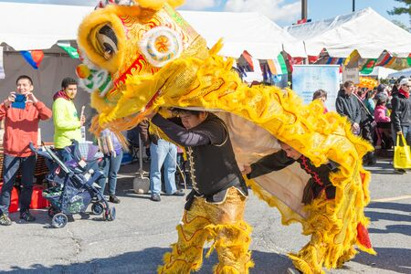 montgomery: Maryland, USA - Oct.18,2015: Lion dance at the 7th Annual World of Montgomery 2015 Festival.
