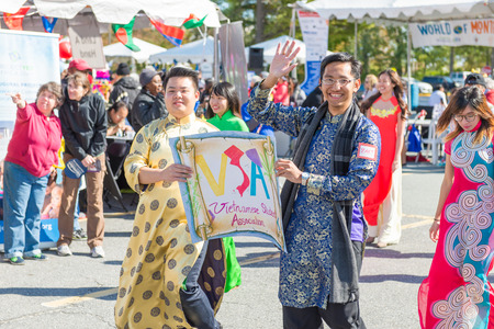 montgomery: Maryland, USA - Oct.18,2015: Parade of  Cultures at the 7th Annual World of Montgomery 2015 Festival.
