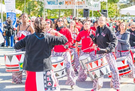multiple ethnicity: Maryland, USA - Oct.18,2015: Parade of  Cultures at the 7th Annual World of Montgomery 2015 Festival.