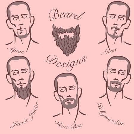 grooming: Popular styles of beard and mustache grooming.