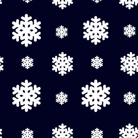 Seamless pattern with snowflak. Black and white simple and elegant wallpaper. EPS10 vector illustration Illustration