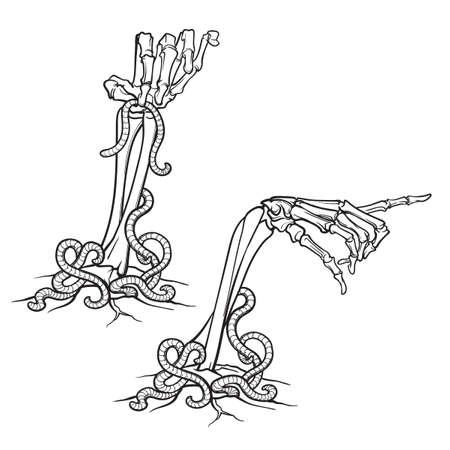 Icono de manos esqueleto.
