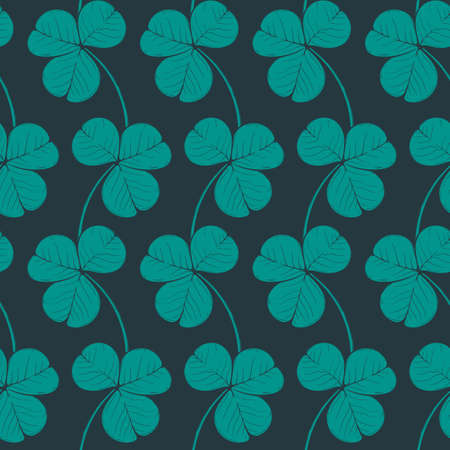 Irish shamrock. St. Patricks day festive seamless pattern. EPS 10 vector illustration Ilustração