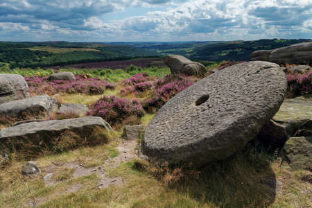 millstone: Old abandoned millstone